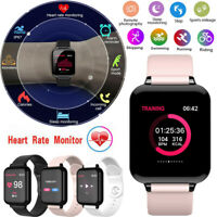 Bluetooth SMART Watch Heart Rate & Blood Pressure Monitor Sport Fitness Tracker