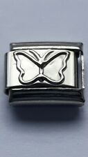 Shiny BUTTERFLY Insect 9mm Italian Charm Fits Classic Bracelet Link