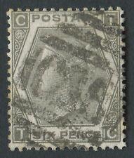 """GB utilizzati in Perù Z45 1873 GB 6D Grigio Piastra 12, CT, con """"C38"""" Callao, il Perù."""