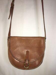 Vintage Leather Coach Crossbody Handbag Buckle Closure 335-4646