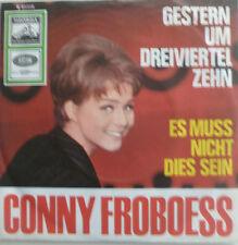 """7"""" 1964 RARE IN MINT- ! CONNY FROBOESS : Gestern um dreiviertel zehn"""