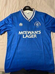 Glasgow Rangers Football Club FC Retro Admiral Kit 90-92 Home Shirt BNWT