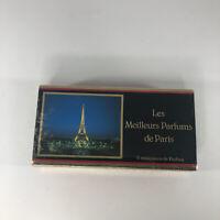Vintage Set of 5 Mini Les Meilleurs Parfums de Paris in Original Box NIB Sealed