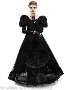 Punk Rave Gothic Hochzeit Abendkleid Victorian Samt Ball Kleid Prom Dress LQ071