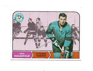 1968-69 Topps:#102 Earl Ingarfield,Penguins