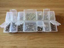 Metal Beads And Organiser Box Lot