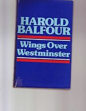 Wings over Westminster by H. H. Balfour (1973, Book, Illustrated) Aviation WWII