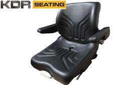 GRAMMER MSG12 Bomag Roller Suspension Seat With 3 Wire Switch & Armrests Dumper