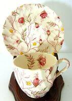 COPELAND SPODE ENGLAND ROSEBUD CHINTZ TEA EXPRESSO COFFEE CUP SAUCER SET
