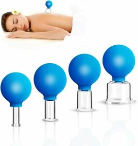 4pcs Thick Glass Cupping Set for Professionals 4 different sizes Anti Cellulite