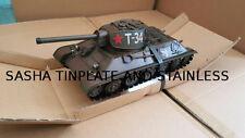 RUSSIAN SOVIET TANK T-34 tin toy tinplate car blechmodell auto buriki handmade
