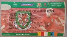 Gales V de la Copa Mundial de billete de Austria calificador marzo 2005 Cardiff