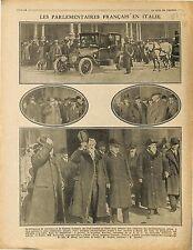 Gare Rome Roma Députés du Parlement Français Italie Italia Marconi TSF 1917 WWI