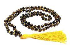 Tiger Eye Mala Beads Japa 108 Prayer Buddhist Hindu Gemstone Confidence Stone