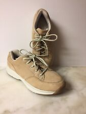 Rockport Lace Up Sneakers Women's Beige Nubuck Leather Shoes APW3310Y Sz 8 EUC