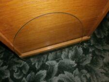 Glasplatte - rund -  32,5  cm Durchmesser, mit geschliffenem Rand, 60iger Jahre
