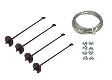 4 Way Earth Anchor Kit -  Down Guy Your Antenna Mast, Storage Building, Etc