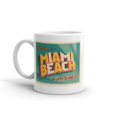 Salutations de Miami Beach Florida Haute Qualité 10 oz (environ 283.49 g) Café Thé Tasse #7534