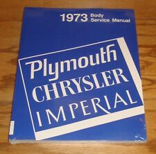 1973 Plymouth Chrysler Imperial Body Service Shop Manual 73