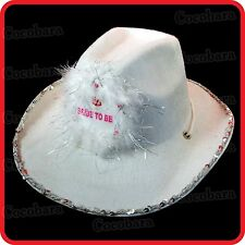 BRIDE TO BE COWGIRL HAT-HENS NIGHT PARTY GIRLS NIGHT OUT FANCY DRESS COSTUME
