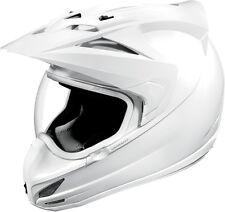 Icon Variant Dual Sport Enduro Motorcycle Motorbike Helmet - White