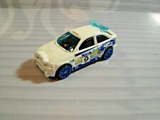 2019 HOT WHEELS  loose  = FORD ESCORT RALLY =  WHITE ,  blue 10sp
