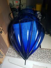 Blue Maderia Glass Light Shades X2