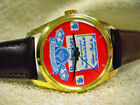 Vintage Budweiser Advertising Wrist Watch, Mechanical wind up movement, Running!