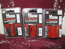 """3 pc Morse Master Cobalt Bi-Metal Hole Saw 2 1/8"""" 1 1/4"""" 3/4"""" New in Package"""