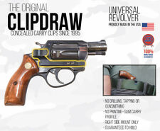 Clipdraw Belt Clip Universal Revolver IWB Silver Clip Holster  Right Side Mount