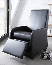 Sillones color principal negro de piel sintética para el hogar