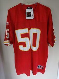 NWT Logo Athletic Kansas City Chiefs Anthony Davis # 50 Jersey Men L Autographed