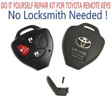 Toyota Scion 2005 - 2014 3 Button Remote Key Head Repair Kit Shell Case DIY A+++