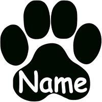 Pfote mit Wunschname Katzenpfote Hundepfote Aufkleber Wandtattoo
