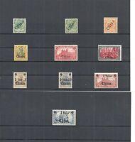 DAP, CHINA, 1898 - 1919, Einzelmarken aus MiNrn: 1 - 47 *, ungebraucht mit Falz