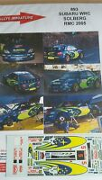 DECALS 1/24 REF 893 SUBARU IMPREZA WRC PETTER SOLBERG RALLYE MONTE CARLO 2005