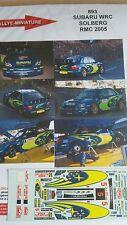 Decals 1/43  réf 893 Subaru WRC SOLBERG Monte Carlo 2005