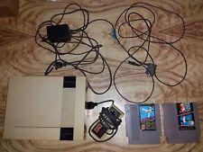 NES Console PAL 1 Controller, 2 Games, Original Cords