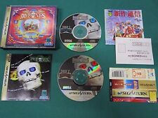 Sega Saturn -- Mr. Bones -- spine card & postcard & leaflet. *JAPAN GAME* 18027