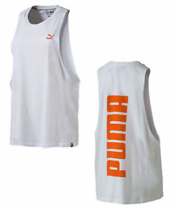 Puma Womens Archive Logo Tank Top Training Vest White 572483 67 A9B