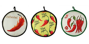 """13"""" Chili Peppers Tortilla Warmer Keeps Tortillas FRESH & WARM FOR OVER 1 HOUR!"""