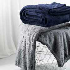 Luxury Large Faux Fur Mink Fleece Cozy Blanket Sofa Bed Throw Double King Size
