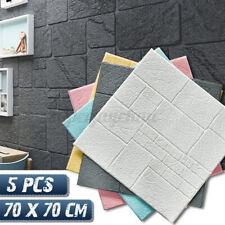 5/10 Set 3D Tapete Wandpaneele Selbstklebend Ziegel Wasserfest Wandaufkleber