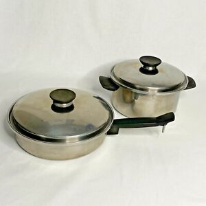 VTG Seal O Matic Cookware 18-8 Stainless 3 Ply ~ **4 Pc Set** Made in USA