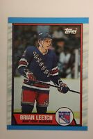 1989-90 Topps Brian Leetch Rookie Card #136 - Mint