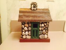 Hand Crafted Decorative Stone/Metal/Wood Birdhouse