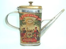 Vtg Huile D'Olive Vierge Clarifiee Olive Oil Tin with Attached Spout