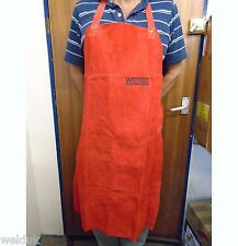 Red Leather Welder/Blacksmith Apron none Flammable Stitched e222
