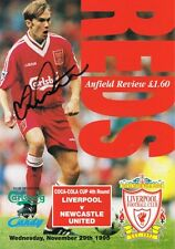 Signé steve watson newcastle-liverpool 1995 autographe programme proof