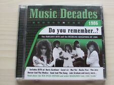 MUSIC DECADES 1986 CD, ORIGINAL VARIOUS ARTISTS, EXCELLENT CONDITION.